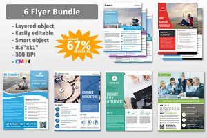 6 Corporate Flyer Bundle-V86