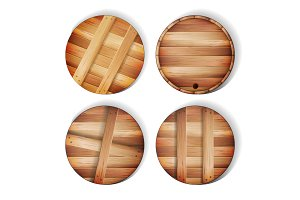 Barrel Wooden Sign Vector