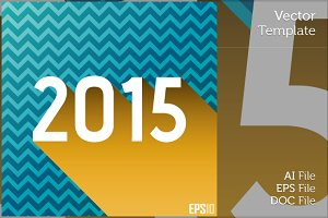 New Year 2015 Flat Vector Design