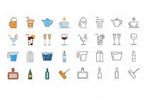 16 modern flat bar icons