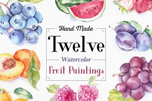 Fruit Watercolor Illustrations