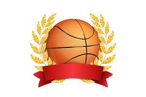 Basketball Award Vector. Sport
