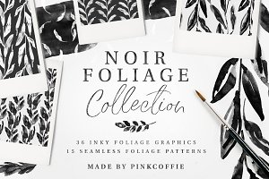 Noir Foliage Watercolor Collection