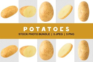 Isolated potatoes collection