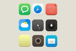 Mobile Icon Set 1