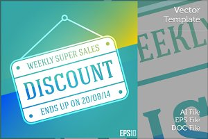 Business Discount Vector Sign