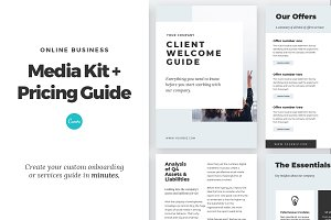 Media Kit + Pricing Guide for Canva