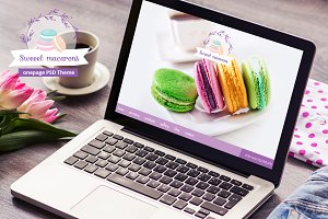 Sweeet  macarons - onepage PSD theme
