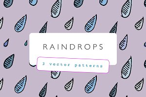 Raindrops Pattern