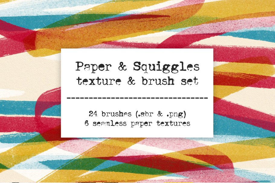 Markers & Paper Brush & Texture Pack