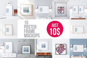 Poster Frame Mockup Set