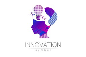 Logo sign of innovation in science