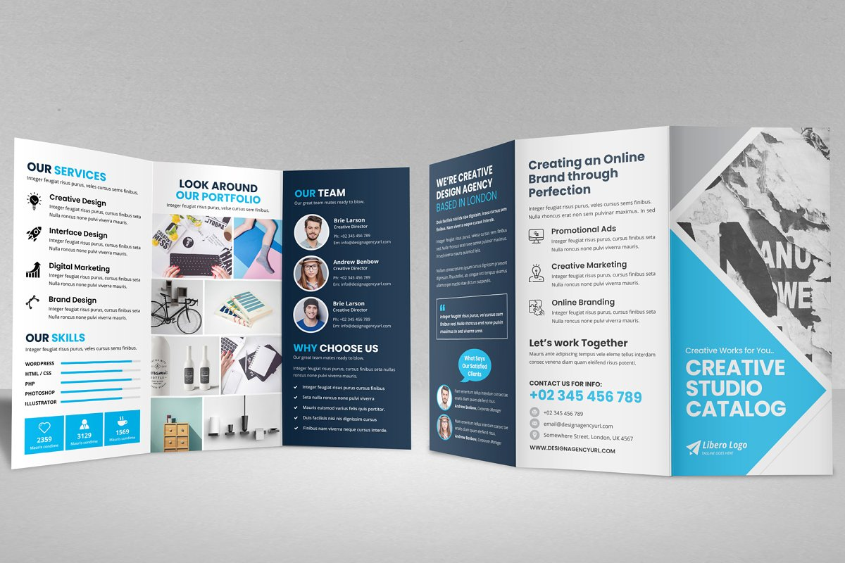 Trifold Brochure Design v2 by Miyaji75