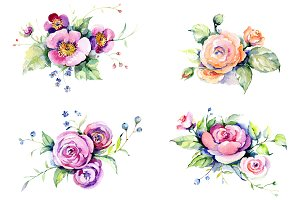Exotic bouquet  Watercolor png