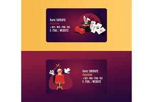 Magician business card vector