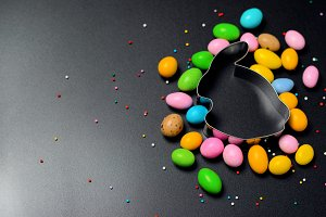 Easter Concept, Chocolate Eggs and C