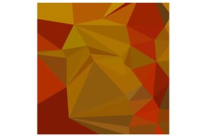 Tenne Tawny Orange Abstract Low Poly