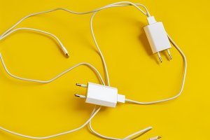 close up charging usb wire plug isol
