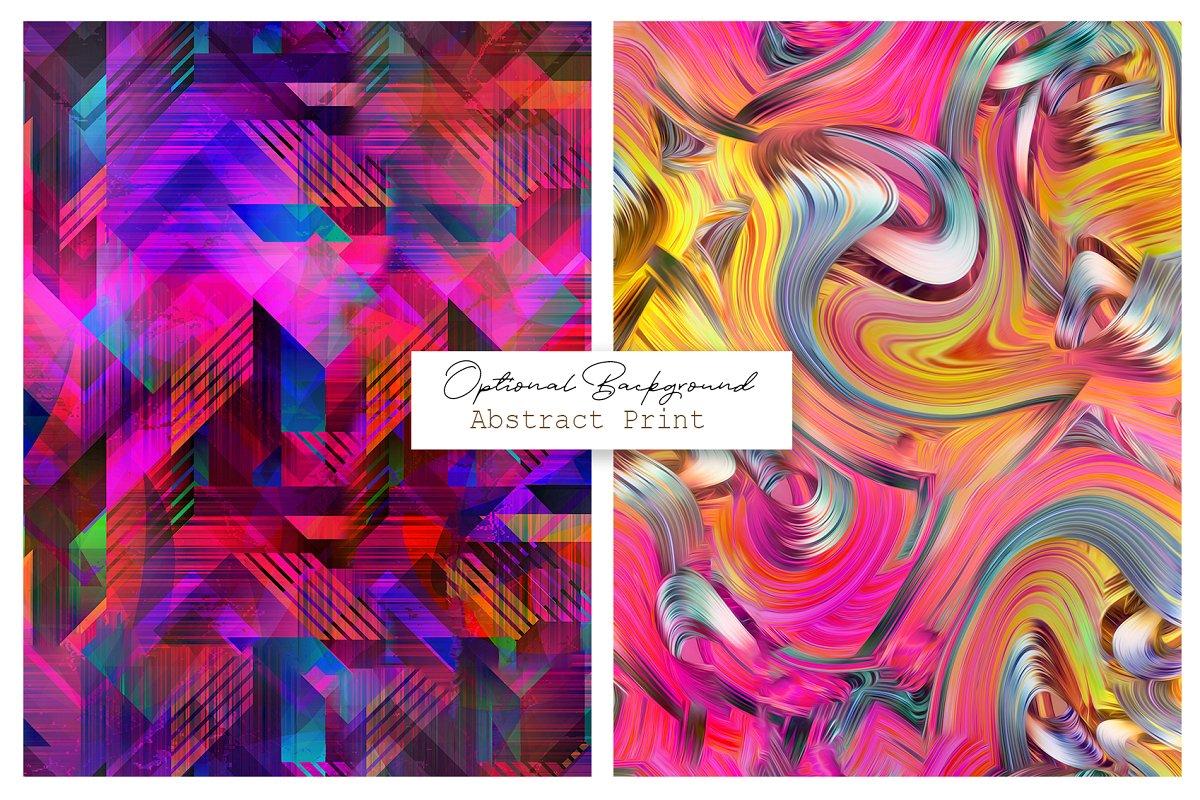 精选免费超级时尚的抽象丙烯酸油漆背景纹理 Abstract Prints插图(6)