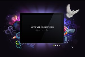 Web Header For Portfolio Works