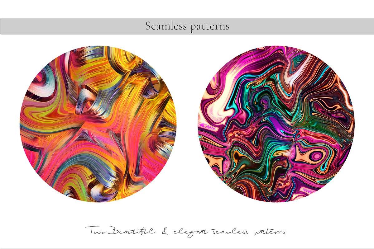 精选免费超级时尚的抽象丙烯酸油漆背景纹理 Abstract Prints插图(5)