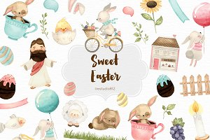 Watercolor Sweet Easter