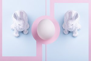 Easter rabbit and egg