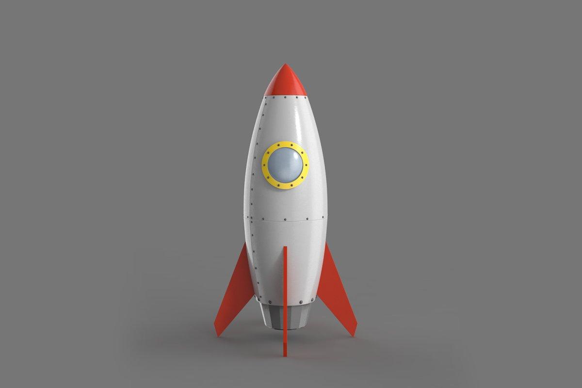 Spaceship rocketship cartoon simple