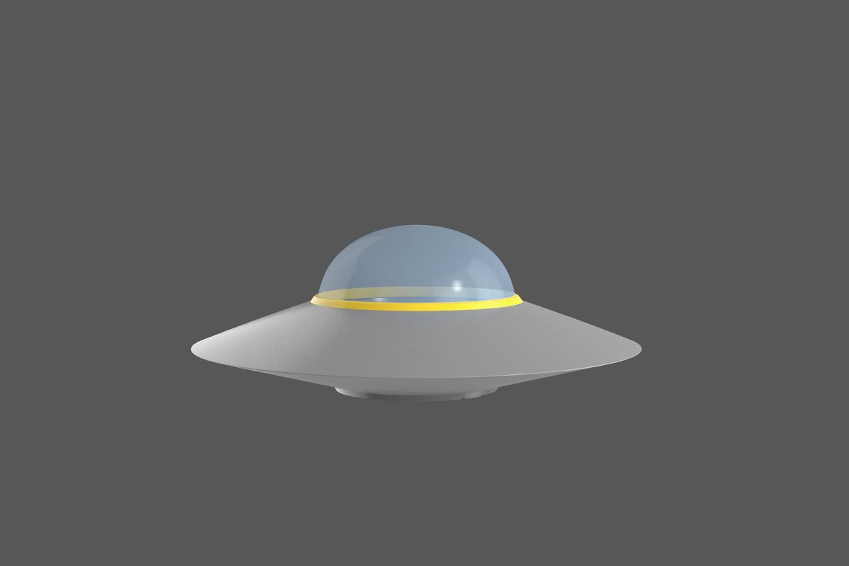 Flying saucer UFO simple High LowPol