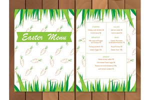 Vector Easter menu or Party