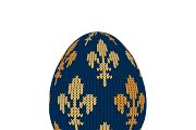 Knitted easter egg with royal lilies