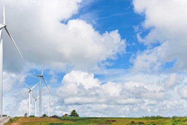 Stock Photos - Landscape windmills field
