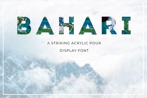 Fonts: Jennifer Lauren Creative - BAHARI Display Font