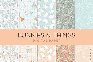 Easter digital paper pattern