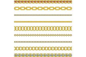 Flat vector set of figured gold