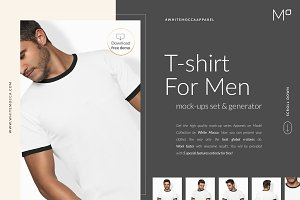 Men T-shirt Mockups Set FREE DEMO