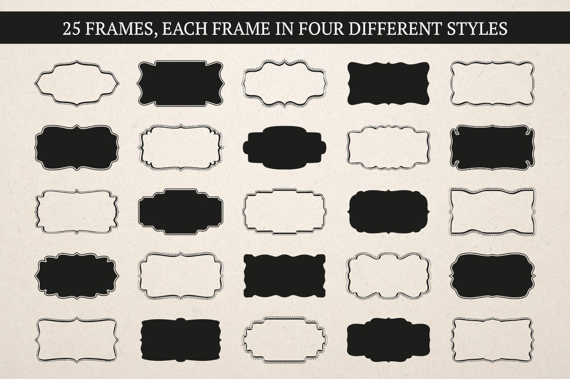 Label & Frame Shapes - Ai, EPS & PNG ~ Objects ~ Creative ...