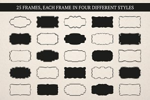 Label & Frame Shapes - Ai, EPS & PNG
