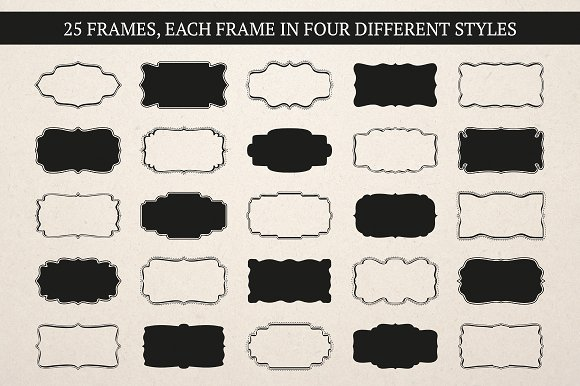 Label & Frame Shapes - Ai, EPS & PNG ~ Graphic Objects ~ Creative Market