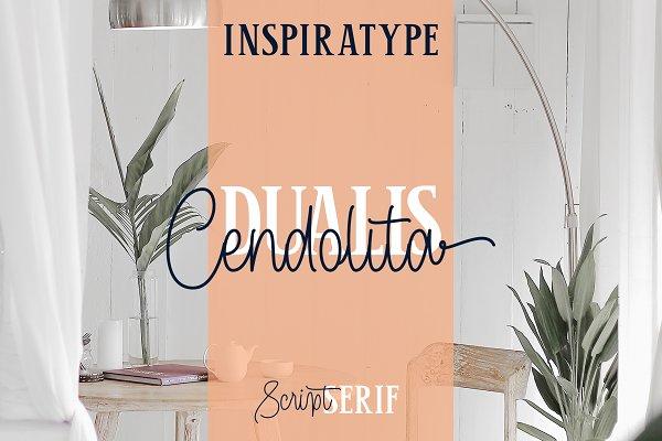 Cendolita Dualis - Script and Serif