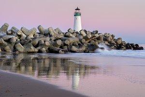 Twilight over Breakwater Lighthouse