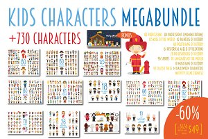 MEGABUNDLE Kids Characters Sets