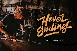 Never Ending - Vintage Script