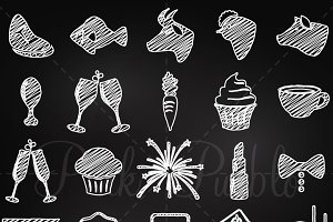 Chalkboard Wedding Icons 2