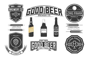 Vector brewery labels.