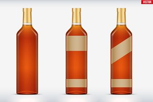 Whiskey bottle set mockup