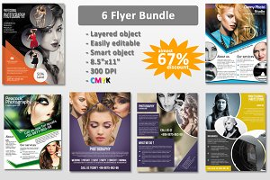 Photography flyer bundle-6 flyer-V87