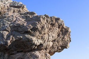 Profile face out of Rock