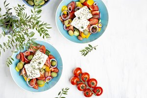 Greek salad with vegetables