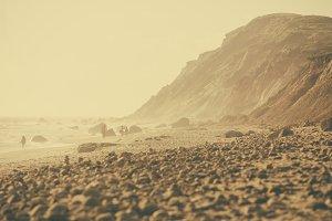 Hazy Rocky Beach